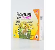 Frontline Tri-Act pro psy Spot-on S (5-10 kg) 3 pip