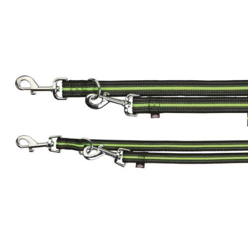 FUSION pásek, vodítko prodlužovací S - L 2 m / 17 mm - černo-zelený