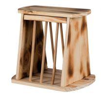 Samostatně stojící krmítko na seno, dřevěné 25 x 22 x 18 cm