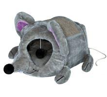 Plyšová myš LUKAS pelíšek s hračkou a škrábadlem 35x33x65cm