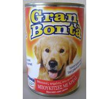Gran Bonta konzerva s hovězím masem pro psy 400g