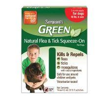 Sergeanťs Green spot on pro psy nad 30kg 3x5ml VÝPRODEJ