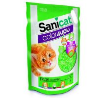 Sanicat COLOR4YOU zelený hrudkující silica gel 5L/2,4 kg
