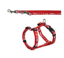 Puppy souprava postroj 23-34cm/8mm + vodítko 2,00m/8mm červená