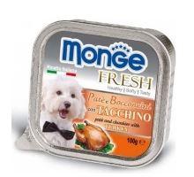 MONGE FRESH paštika a kousky s krůtou 100 g pro psy