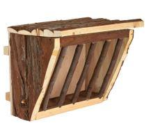 Dřevěné jesličky na seno, úchyt na klec 20x15x17 cm