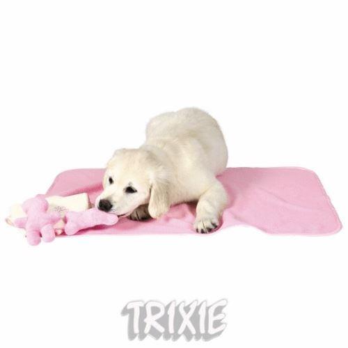 Sada pro štěňata - deka se dvěma hračkami růžová