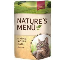 Schmusy Cat Nature Menu kapsa kuře+losos 100g