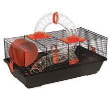 Klec SMALL ANIMAL Libor černá s červenou výbavou 1ks
