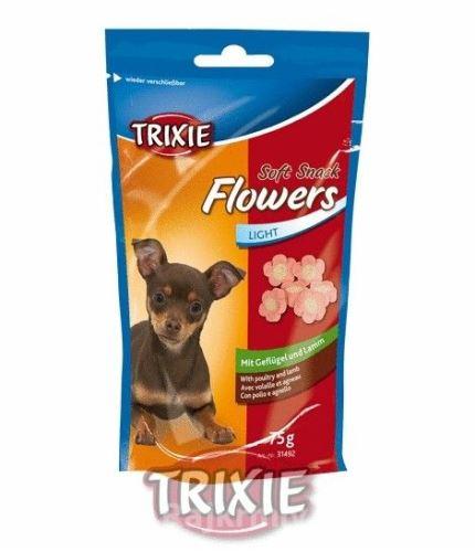 Soft Snack FLOWERS Light - měkké kytičky jehněčí/kuřecí 75g
