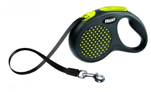 Vodítko FLEXI Design páska žluté M-L 1ks