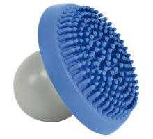 Šamponovací gumový kartáč pro jemnou masáž modro/šedý