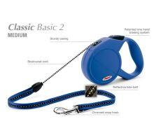 Vodítko FLEXI Classic 2 (M) 5m/20kg Lanko Modrá