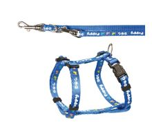 Puppy souprava postroj 23-34cm/8mm + vodítko 2,00m/8mm Modrá