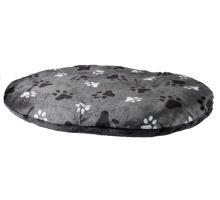 Oválný polštář GINO šedý s packami 80x55cm