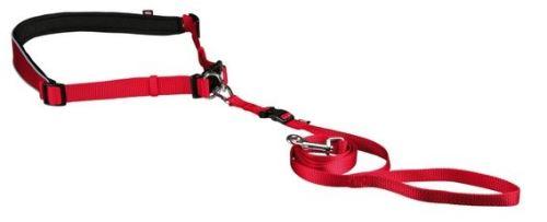 Pás na běh s pružným vodítkem pro malé a střední psy