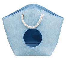 EMMA odpočívadlo pelíšek, tkaná textilie 52x39x25 cm modré