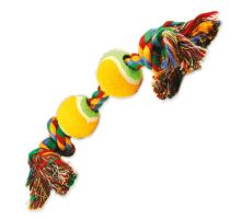 DOG FANTASY barevná 2 knoty + 2 tenisáky 35 cm 1ks