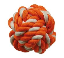 DOG FANTASY míč bavlněný oranžovo-bílý 12,5 cm 1ks