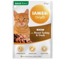 IAMS cat delights turkey & duck in jelly 85g kapsička