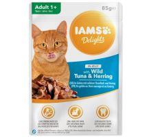 IAMS cat delights tuna & herring in jelly 85g kapsička