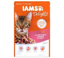 IAMS cat delights salmon & trout in jelly 85g kapsička