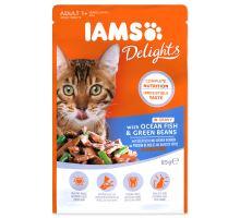 IAMS cat delights ocean fish & green beans in gravy 85g kapsička