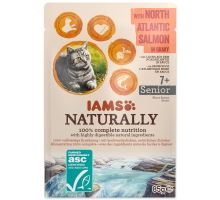 IAMS Cat Naturally Senior with North Atlantic Salmon in Gravy 85g