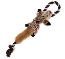 Hračka DOG FANTASY Skinneeez s provazem liška 35 cm 1ks