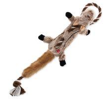 Hračka DOG FANTASY Skinneeez s provazem čipmank 57,5 cm 1ks