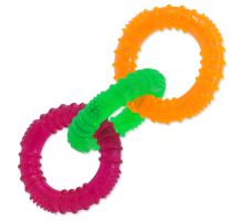 3 kruhy gumové barevné 16 cm
