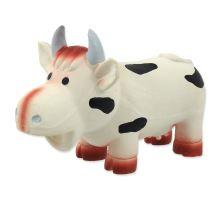 DOG FANTASY Latex kráva se zvukem 18 cm 1ks