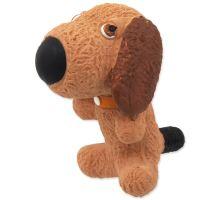 DOG FANTASY Latex pes se zvukem 9 cm 1ks